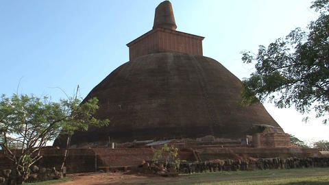Stupa in Anuradhapura, Sri Lanka Footage