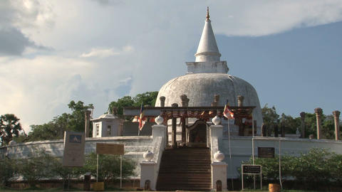Dagoba in Anuradhapura, Sri Lanka Stock Video Footage