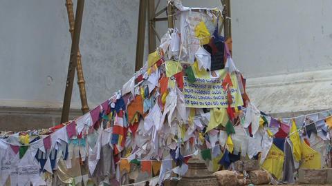 Praying flags in Anuradhapura, Sri Lanka Stock Video Footage