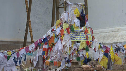 Praying flags in Anuradhapura, Sri Lanka Footage