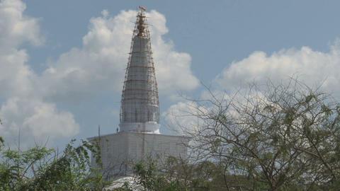 Dagoba in Anuradhapura, Sri Lanka Stock Video Footage