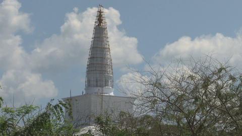 Dagoba in Anuradhapura, Sri Lanka Footage
