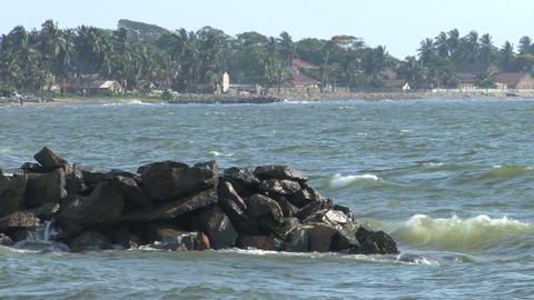 Coast, Negombo, Sri Lanka Stock Video Footage