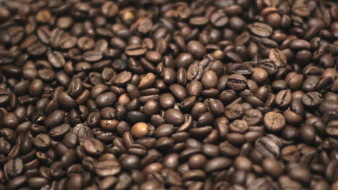 Coffee Beans. Rotation Stock Video Footage