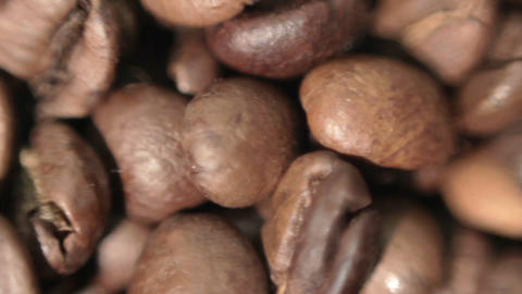 Roasted coffee beans. Soft focus Stock Video Footage