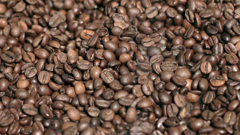 Fried coffee beans Stock Video Footage