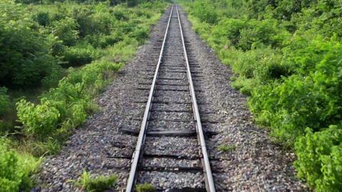 Railway perspective Stock Video Footage