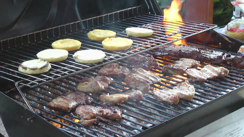 BBQ stock footage