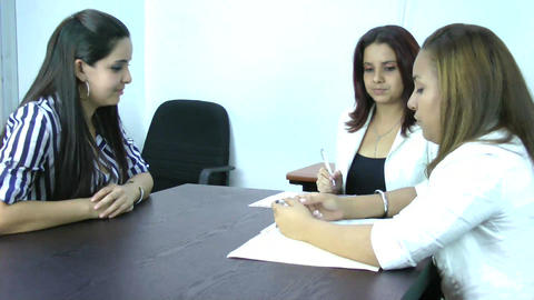 Business Interview Stock Video Footage