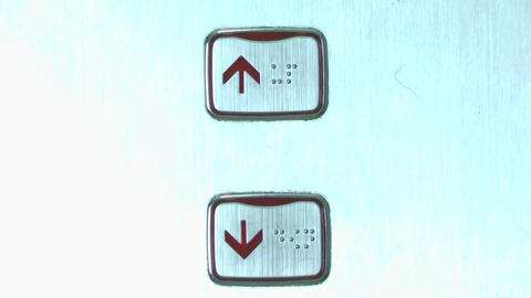 down elevator button Stock Video Footage