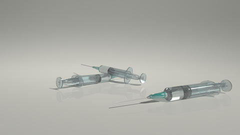 Needle Syringe stock footage