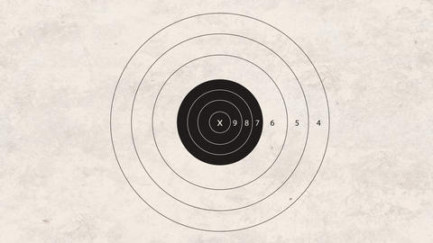shooting target accuracy Stock Video Footage