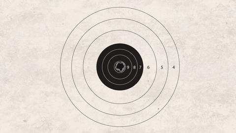 Shooting Target Accuracy stock footage