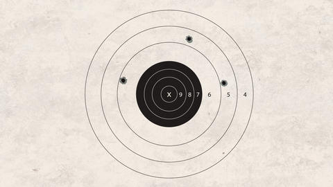 shooting target fail Stock Video Footage
