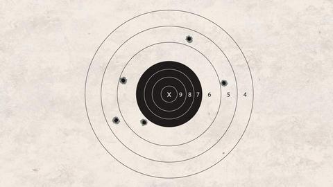 shooting target fail Stock Video Footage