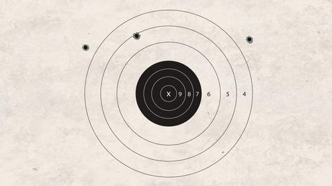 shooting target very bad Stock Video Footage