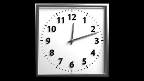 3D Clock 03 Stock Video Footage