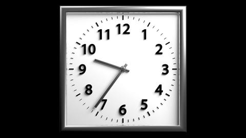3D Clock 03 stock footage