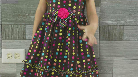 portrait of a little girl standing Stock Video Footage