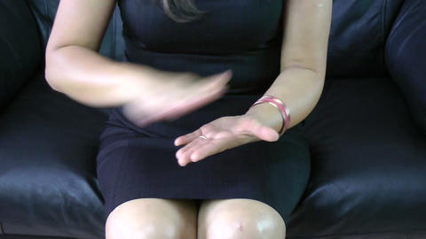 Frustrated business woman making hand expression Stock Video Footage