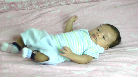 Two month old male hispanic baby Footage