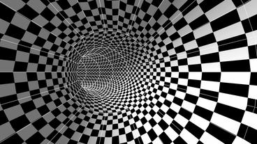 tralver in square mosaics time tunnel hole Animation