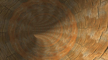 Flying In Wood Text Tunnel Hole stock footage