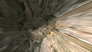 moving in mottled terra mud tunnel hole Animation