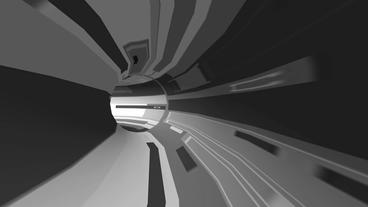 science tech electronic tunnel pipeline,virtual game scenes Stock Video Footage