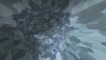 flying in noise mottled tunnel,another world passage Animation