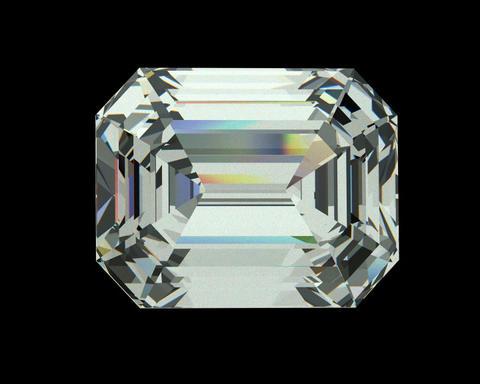 Emerald cut diamond Stock Video Footage