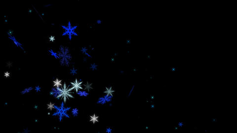 Snow Flake alpha channel Stock Video Footage