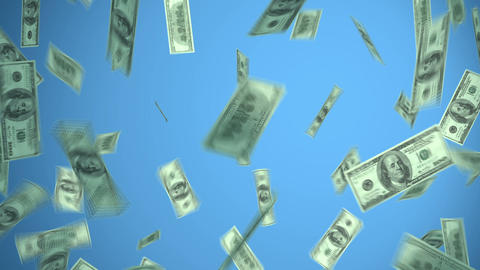 Dollars Explosion Hd, Big Money stock footage