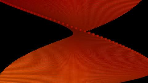 orange twist with alpha Stock Video Footage