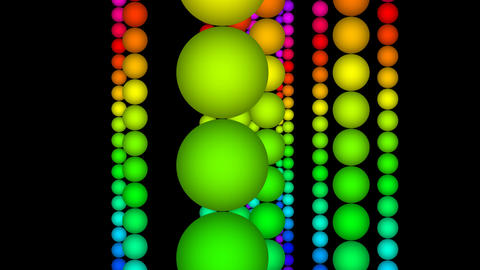 color ball with alpha Stock Video Footage