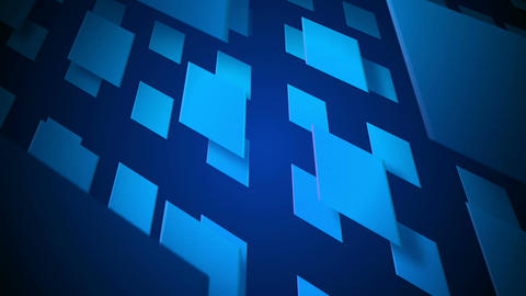 flying blue square Stock Video Footage