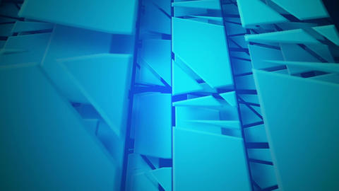 blue moving pieces Stock Video Footage