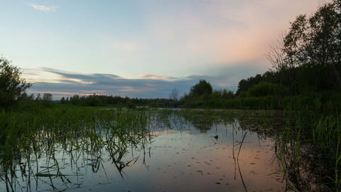 Sunset reflected in river Stock Video Footage
