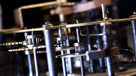 Clock mechanism Stock Video Footage