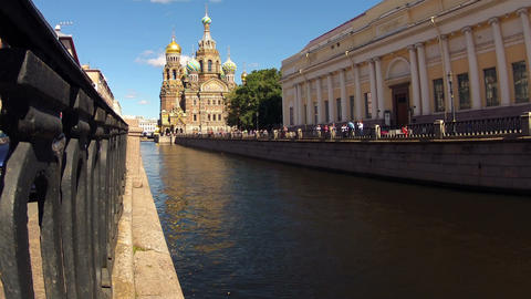 Church of the Savior on Blood. Timelapse Stock Video Footage