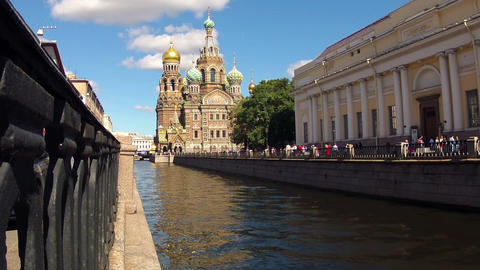 Church of the Savior on Blood. Timelapse Footage