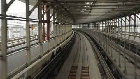 Yurikamome Train In Tokyo stock footage