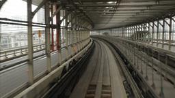 Yurikamome train in Tokyo Stock Video Footage