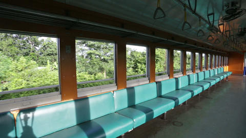 Inside Thai train Stock Video Footage