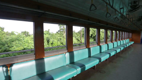 Inside Thai train Stock Video Footage