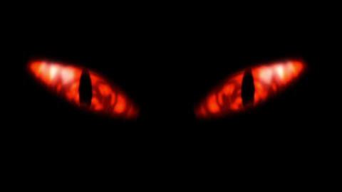 Animation of a evil looking fiery eyes Stock Video Footage