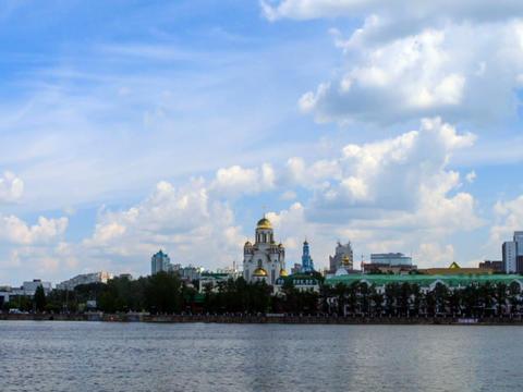 Church on Blood. Russia, Ekaterinburg Stock Video Footage