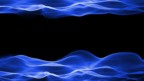 abstract background, blue soft flowing animation Animation