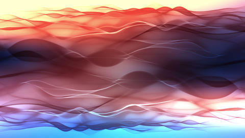abstract background, soft colorful waves animation Stock Video Footage