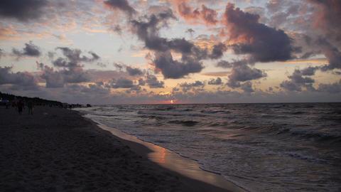 Purple sky over the sea Footage